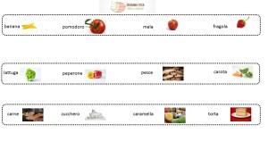 seriazione lessico cibo a1 a2