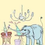 Essere/muoversi come un elefante in una cristalleria/in un negozio di porcellane