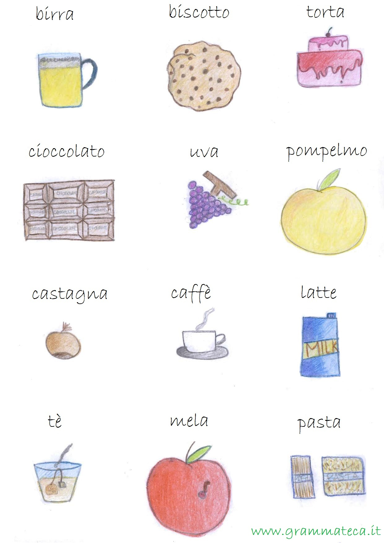 Dizionario illustrato italiano gramma teca - Immagini in francese per bambini ...