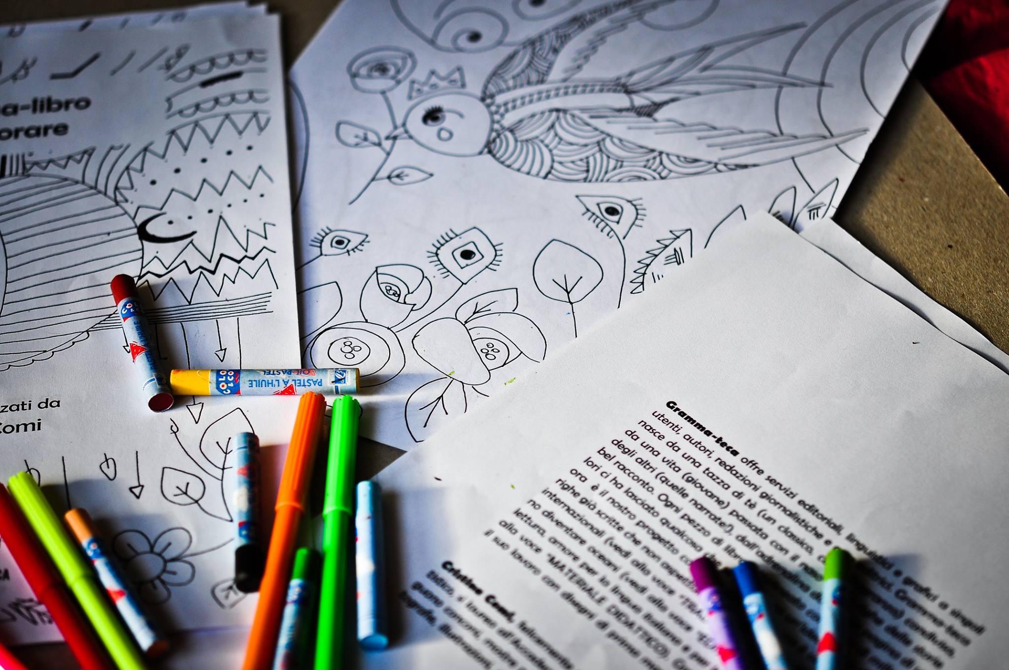 Gramma-libro da colorare per adulti, disegni realizzati da Cristina Comi
