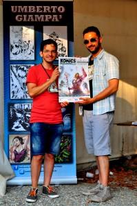 Umberto Giampà e Emilio Amaddeo al Komics RC- Grammateca - foto di Cristina Comi