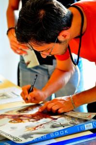 Emilio Amaddeo al Komics RC -grammateca - fotografato da Cristina Comi
