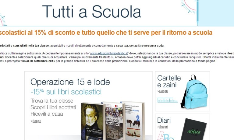 libri scolastici in sconto su amazon